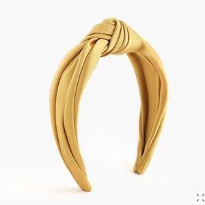 J.Crew Satin turban knot headband - Bronzed Ochre